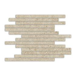 Eleganza - Eleganza - Limestone Subway Mosaic 12x12 sheet - LI1212-2 - Contemporary Collection