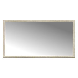 "Posters 2 Prints, LLC - 72"" x 38"" Libretto Antique Silver Custom Framed Mirror - 72"" x 38"" Custom Framed Mirror made by Posters 2 Prints. Standard glass with unrivaled selection of crafted mirror frames.  Protected with category II safety backing to keep glass fragments together should the mirror be accidentally broken.  Safe arrival guaranteed.  Made in the United States of America"