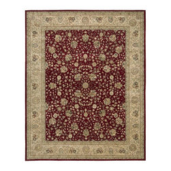 Nourison - Nourison Nourison 2000 Burgundy Area Rug - Redefine luxury with Nourisons most popular handmade signature collection featuring Persian and European traditional designs. The dense pile splendid patterns deeply compelling textures and intriguing aesthetics are certain to command immediate attention in any setting.