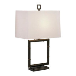 Robert Abbey - Robert Abbey-Z649-Jonathan Adler Meurice - One Light Square Table Lamp - Wattage: 150