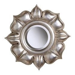 Sterling Industries - Lotus Mirror in Bright Silver Leaf - Lotus in Bright Silver Leaf by Sterling Industries
