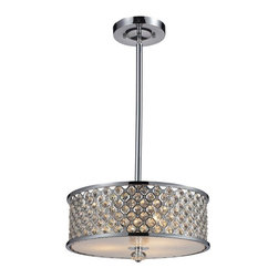 Elk Lighting - Elk Lighting-31101/3-Genevieve - Three Light Semi-Flush Mount - *Shade Included.