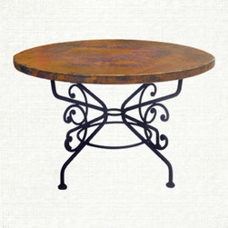 "Copper Table - 42"" - Arabesque Collection 