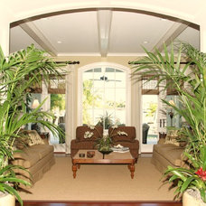 Tropical Living Room by The Brenner Collection