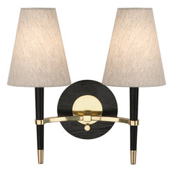 Robert Abbey - Jonathan Adler Ventana Wall Sconce - Traditional wall sconces are a beautiful way to add lighting to your home. Whether they're flanking a fireplace or master bed, these modern sconces will add an elegant touch to your room. Choose between antique brass or polished nickel hardware to complete the sophisticated look.
