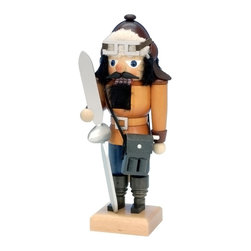 "Alexander Taron - Alexander Taron Christian Ulbricht Nutcracker - Aviator - 10""H x 4""W x 4""D - The small Pilot nutcracker from Ulbricht/Seiffener Nussknacker is handmade in Germany in a natural wood finish. His goggles and binoculars are ""tools"" he may need for his next flight. He lives to fly - and aviation is his life!"