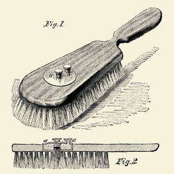 Buyenlarge - Lotion Dispensing Hair Brush 28x42 Giclee on Canvas - Series: Industrial America - Invention