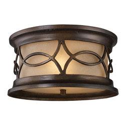 ELK Lighting - Two Light Hazelnut Bronze Outdoor Flush Mount - Two Light Hazelnut Bronze Outdoor Flush Mount