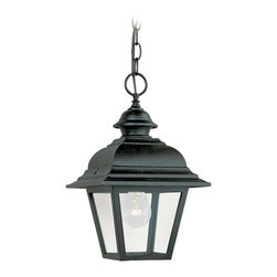 Sea Gull Lighting - Sea Gull Lighting 6016-12 Bancroft 1 Light Outdoor Pendants/Chandeliers in Black - Single-Light Bancroft Outdoor Pendant Fixture