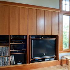 Contemporary Storage Cabinets by Petrina Construction INC