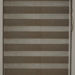 "CustomWindowDecor - 48"" L, Basic Dual Shades, Brown, 58-5/8"" W - Dual shade is new style of window treatment that is combined good aspect of blinds and roller shades"