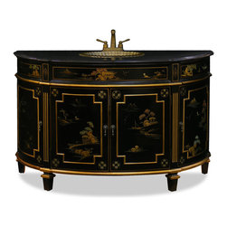 Shop asian bathroom vanities on houzz for Tansu bathroom vanity