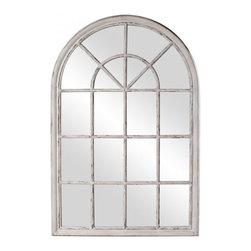 www.essentialsinside.com: fenetre windowpane framed arched wall mirror - Fenetre Windowpane Framed Arched Wall Mirror by Uttermost, available at www.essentialsinside.com