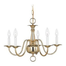 Sea Gull Lighting - Brass Up Chandelier - This Up Chandelier has a Brass Finish and is part of the Traditional Collection.