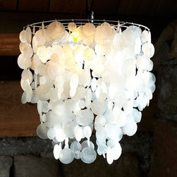 Natural Capiz Shells Pendant Lighting -
