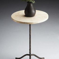 Butler Furniture Metalworks Pedestal Table - 6068025 - This Metalworks Pedestal table by Butler is a perfect picture of simple elegance. The Butler Pedestal table is the perfect display piece for a brilliant flower or picture, as it shows it off without showing itself off. Clean, classic lines keep this table traditional and the metalwork finish ensures it does not draw attention away from your prized item. It has an attractive and innovative design and a charming appearance. This item is constructed of select hardwoods.