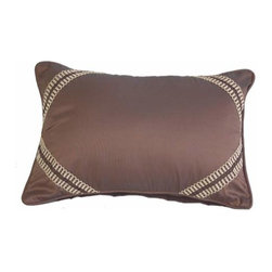 India House Brass, Inc. - Chocolate and Beige Rectangular Pillow - Whether you are looking for plain or fancy, modern or traditional, our decorative pillows are just the right combination of modern function and vintage styling.  -Spot Clean Only India House Brass, Inc. - 84102