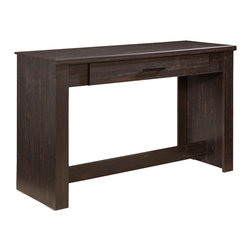 Standard Furniture - Standard Furniture Hideout Student Desk in Warm Dark - Hideout combines handsome transitional styling with well planned function, great storage options, and the flexibility to create customized room arrangements - all wishes of youth and parents today.