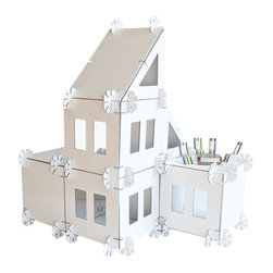 Mod House - Kids love playing house. Why not give them a house they can literally build and design themselves. Let them set up this recycled cardboard house for a family of four and see where their imagination takes them. It's a great gift for any creative child.