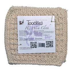 Toockies - Toockies His Wash Cloths - Toockies His Wash Cloths are the perfect choice for men who are concerned about the environment. Made from 100 percent certified organic cotton, the wash cloths are left their natural color and are free of chemical dyes and any type of synthetic material.