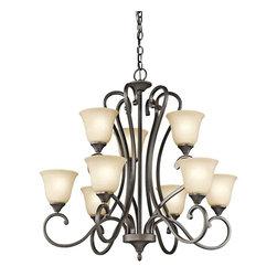 Kichler Lighting - Kichler Lighting 43177OZ Feville Olde Bronze 9 Light Chandelier - Kichler Lighting 43177OZ Feville Olde Bronze 9 Light Chandelier