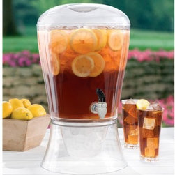 Creative Bath 3 gal. Beverage Dispenser - Perfect for summer gatherings and parties, the Creative Bath 3 gal. Beverage Dispenser makes entertaining a large group easy and stylish. It keeps 3 gallons of your favorite refreshing drink beautifully presented and easy to access. Made in the USA of durable yet lightweight clear acrylic, this drink dispenser features a sturdy spigot and wide-mouth lid that makes it easy to fill with iced tea, lemonade, soda, juice, water or your favorite adult beverage. You can also fill the base with ice for additional cooling.About Creative BathFor over 30 years, Creative Bath has developed innovative, stylish bathroom decor items. They have grown exponentially, and now you can find their products in major retail and online stores around the world. From shower curtains to soap dishes and everything in between, Creative Bath brings you high quality items to enhance your lifestyle.