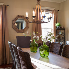 Transitional Dining Room by Kristin Petro Interiors, Inc.