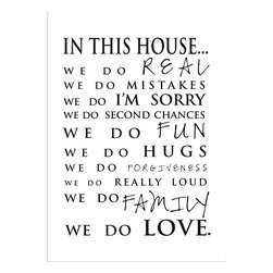 None - Vinyl Attraction 'In This House' Elegant Vinyl Wall Art. - Vinyl Attraction offers a Beautiful,High Quality Vinyl Design that transfers to the wall in minutes. It is easy to apply,easy to remove and looks like hand-painting on the wall.