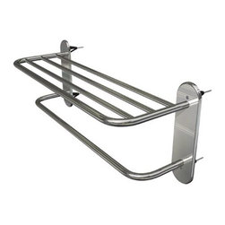 WINGITS, LLC - Master Rack 18 Inch Satin Nickel - WingIts' 18 In. Master Racks are the world's strongest towel shelf and include Master Anchors, the World's Strongest Fastener, for easy installation - no blocking required. Made with 50% more stainless steel, longer retaining screws so the top shelf never sags and stainless steel back plates behind the escutcheons for added stability. Rated at 50 lbs. this towel shelf is built to last.