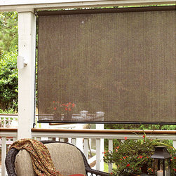 Sonoma - Baja Cocoa Outdoor Shade (72 in. x 72 in.) - This roll-up shade is ideal for windows, porches, gazebos, sunrooms, and other indoor/outdoor structures. Energy efficient design blocks the sun's harsh rays while still letting in air and light.