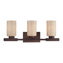 Savoy House - Berkley 3 Light Bath Bar - Berkley will add warmth to your home with its warm transitional styling. This stylish collection has a rich Heritage Bronze finish, hammered details, and Handpainted Cream glass, making it perfect for today's casual lifestyle.