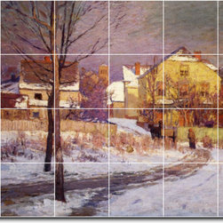 Picture-Tiles, LLC - Tinker Place Tile Mural By Theodore Steele - * MURAL SIZE: 32x48 inch tile mural using (24) 8x8 ceramic tiles-satin finish.