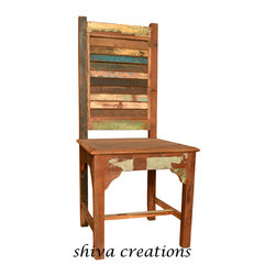 Reclaimed wood chair India - Shiva Creations is a part of SHIVA Groups, a Jodhpur based Indian wooden furniture manufacturer and Indian furniture exporter. Jodhpur, the second largest city of Rajasthan is world famous for its arts and handicrafts. Jodhpur has been epicenters of Indian handicrafts, Indian style furniture sets and many more wooden products woven integrally with tourism to embrace the mundane visitors and tourists. With centuries passing by into deep transformation, but there has been enough time to recall Jodhpur for its vast reservoir of wooden handicrafts.