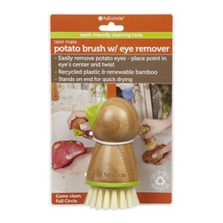 Full Circle - Full Circle Home Tater Mate Potato Brush with Eye Remover - You buy the organic potatoes to protect your family from toxins, so why do you scrub with a brush that could be laden with BPA? Make the switch to the Full Circle Home Tater Mate Potato Brush with Eye Remover, and you'll be kinder to the potatoes.