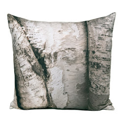 """Kuchi Kuu - Lenox Woodland Collection Artisan Pillow, 24"""" x 24"""" - Eco-friendly, artisan pillow covers are created from photographic images found in nature that are applied to organic cotton twill using water-based inks.  Pillow inserts are a 10/90 combination of down and feathers.  The pillow covers can be hand washed in cold water or dry cleaned."""