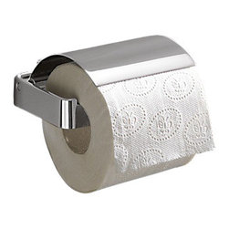 Gedy - Square Polished Chrome Toilet Roll Holder With Cover - Contemporary style toilet roll holder with cover.