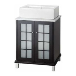 Foremost - Foremost Zen 24 Inch Vanity and Carrara White Marble top in Espresso - Foremost Zen 24 Inch Vanity and Carrara White Marble top in Espresso