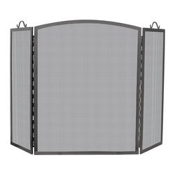 Uniflame - Uniflame S-1172 3 Panel Olde World Iron Arch Top Screen - Large - 3 Panel Olde World Iron Arch Top Screen - Large belongs to Fireplace Accessories Collection by Uniflame
