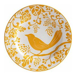 Yellow Bird Plate - This plate is so darling I'm not sure I'd want to cover it up with food; it's great for hanging on the wall or serving your guests. It comes in several bold colors and they are sold as singles, so you can mix and match if you like.