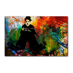 "Ready2HangArt - Ready2hangart Alexis Bueno Iconic 'Chaplin' Acrylic Wall Art - Artist Alexis Bueno, takes you on a journey with this unique retrospective of the stars that affected Pop Culture through the past centuries with his series Iconic Art . This abstract rendition in acrylic art is offered as part of a limited ""Home Decor"" line, being the perfect addition to any contemporary space."