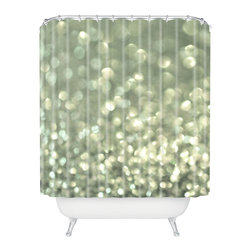 DENY Designs - Lisa Argyropoulos Mingle 2 Silver Screen Shower Curtain - Who says bathrooms can't be fun? To get the most bang for your buck, start with an artistic, inventive shower curtain. We've got endless options that will really make your bathroom pop. Heck, your guests may start spending a little extra time in there because of it!