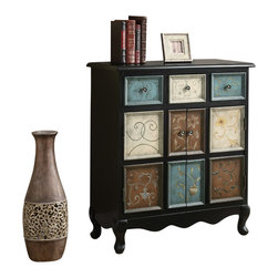 Monarch Specialties - Monarch Specialties 3893 Bombay Chest in Multicolor - Spice up your home with this classic traditional hand painted accent chest. Warm hues create a tasteful touch of class with drawers and doors for ample storage. Perfect for small areas and narrow hallways.