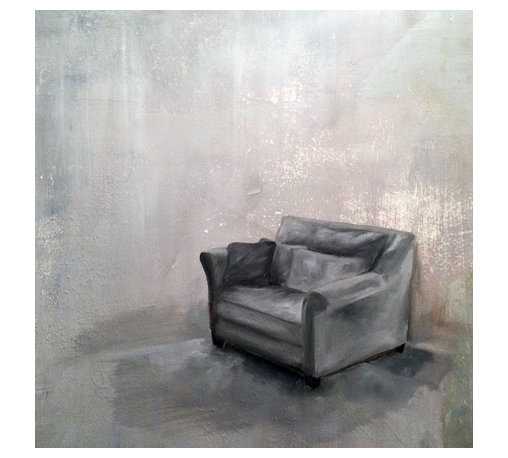 "Gray Room 01, Original, Painting - ""Gray Room explores the tension between the need of rest and stillness and the inablity to do so, the potential of what can be and what is, the moments that lack yet are ready to spring in life.  """