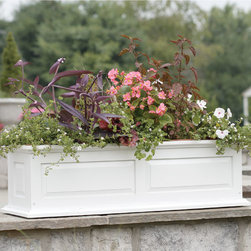 Solid Wood Raised Panel Window Box or Freestanding Planter - This Solid Wood Raised Panel Window Box Planter is just the finishing touch you've been looking for. Add this planter to your garden or patio for a decorative and inviting feel.