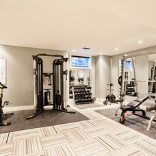 Contemporary Home Gym by Madison Taylor