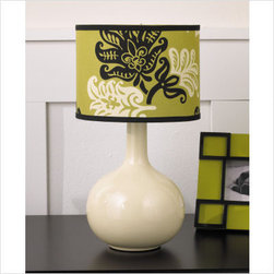 Cocalo Couture Harlow Lamp Base & Shade - Add a modern and tropical flair to your child's space with this base and shade. With a smooth white base to balance the bold pattern on the shade, this is bound to shed some pleasant light on your space.