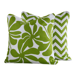 Chartreuse Twirlies Collection Throw Pillow l Chloe & Olive - Chloe & Olive
