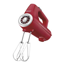 Cuisinart - Cuisinart PowerSelect 3-Speed 220-Watt Electronic Hand Mixer, Red - 220-watt total power with automatic feedback