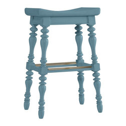 Stanley Furniture - Coastal Living Cottage-5 O'Clock Somewhere Bar Stool - Island-inspired attitude with details like double-lathed legs, arched seat, and foot rest make this stool anything but ordinary.