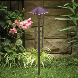 """Kichler - Kichler 15435PP Posies Purple Path & Spread Light 15435PP - Purple finishBulb Included: Yes Bulb Type: 3156K Collection: Posies Finish: Purple Height: 22"""" Length: 7"""" Number of Lights: 1 Socket 1 Base: Wedge Socket 1 Max Wattage: 24 Style: Soft Contemporary Casual Lifestyle Type: Path Light Voltage: 12 Volt Wattage: 24.4 Watt Width: 7"""""""